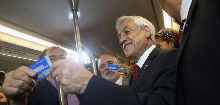 [VIDEO] Metro: Piñera destaca ahorro de 10 días al año en viajes tras inaugurar Línea 3