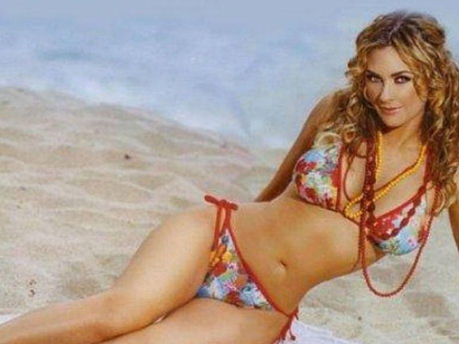 Aracely Arámbula presume bronceado con sexy bikini -