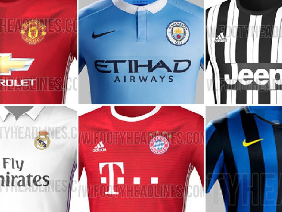4819f02ba58c1 Las camisetas de los equipos grandes de Europa para el 2016